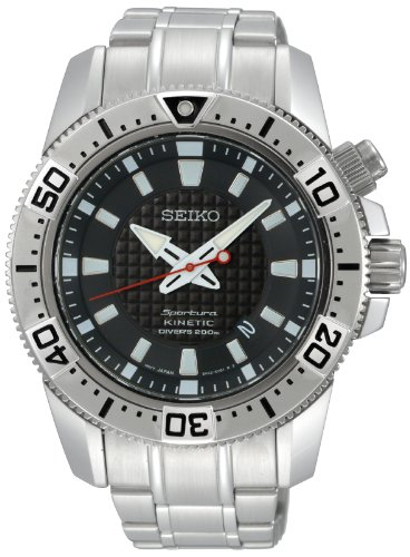 Seiko Men's Automatic Watch with Black Dial Analogue Display and Silver Stainless Steel Bracelet SKA509P1