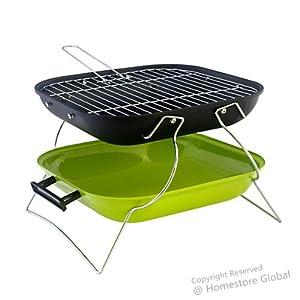 Barbecue Grill portable et pliable à charbon de bois. Design, léger et très fonctionnel - Vert