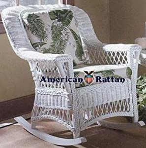 white bar harbor indoor natural rattan and wicker rocking chair from spice island. Black Bedroom Furniture Sets. Home Design Ideas
