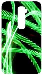 Green Neon Blur Back Cover Case for LG Optimus G2
