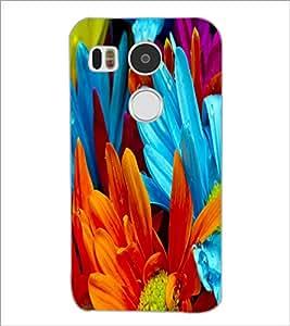PrintDhaba Flower D-2181 Back Case Cover for LG NEXUS 5X (Multi-Coloured)