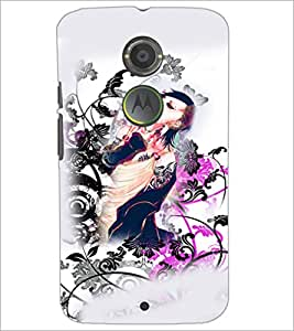 PrintDhaba Abstract Image D-4817 Back Case Cover for MOTOROLA MOTO X2 (Multi-Coloured)
