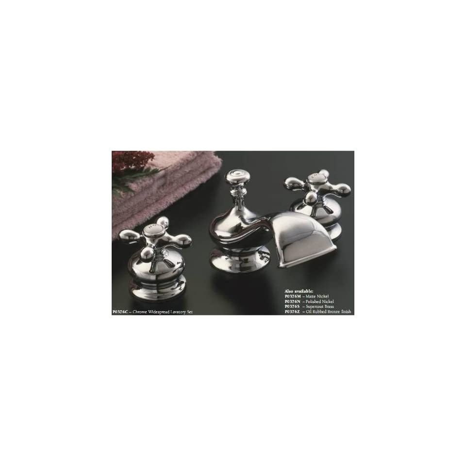 Sign of the Crab P0376C Chrome Widespread Lavatory Faucet