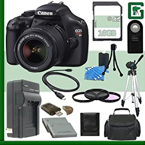Canon EOS Rebel T3 Digital SLR Camera Kit with 18-55mm IS II Lens + 16GB Green's Camera Package 2
