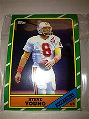 1986 Topps FB Tampa Bay Buccaneers Team Set 11 Cards Steve Young RC