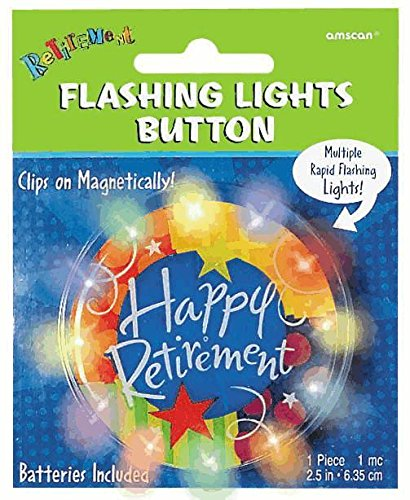 Retirement Light Up Button - 1