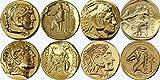 アレクサンダー素晴らしい 4 有名な硬貨、ギリシャの神々 ・女神のコレクション、(ALEXSET4 G)