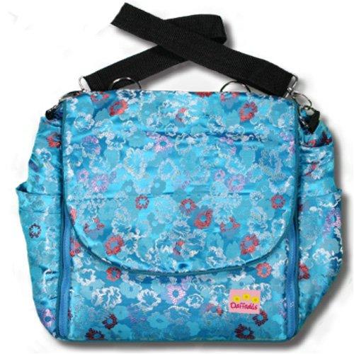 Blue Hawaii Silk Boutique Diaper Bag front-354985