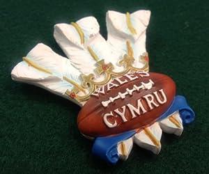 Wales Welsh Three Feathers Fridge Magnet