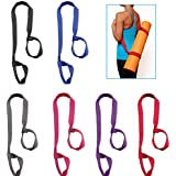 """Clever Yoga Mat Strap Sling Made With The Best, Durable Cotton - Comes With Our Special """"Namaste"""" Lifetime Warranty (Mat not included, 66in and 85in)"""