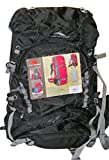 High Sierra Backpack with Internal Frame Ideal for Hiking and Camping (Tangent 45l, Mesh Airflow Adjustable Top Lid Camping Bag, Black)