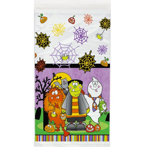 "Little Monsters Halloween Plastic Tablecloth, 108"" x 54"" - 1"