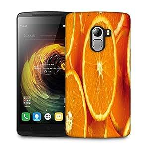 Snoogg Slizzed Orange Designer Protective Phone Back Case Cover For Lenovo Vibe K4 Note