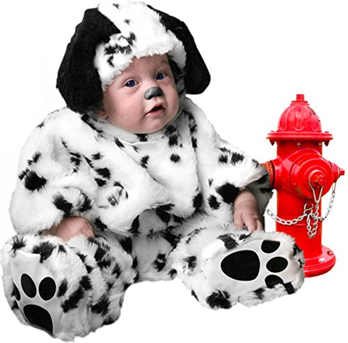 Plush Infant Baby Dalmatian Dog Puppy Costume (18 Months)