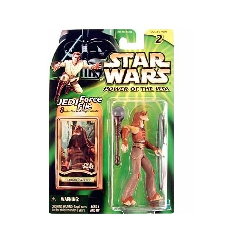 GUNGAN WARRIOR Star Wars Power of the Jedi Action Figure & Jedi Force File