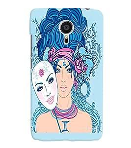 Fuson Amazing Girl Back Case Cover for MEIZU MX5 - D3919