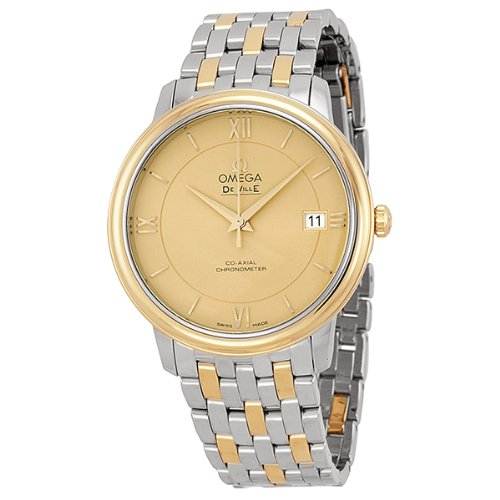 Omega DeVille Prestige Steel and Yellow Gold Mens Watch 42420372008001 (Omega Gold Deville compare prices)