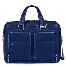 Piquadro Portfolio Computer Briefcase with iPad Compartment, Brilliant Blue, One Size
