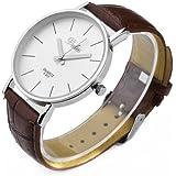 Fashion Style Dalas Unisex Simple Stlye Quartz Pu Leather Wrist Watch