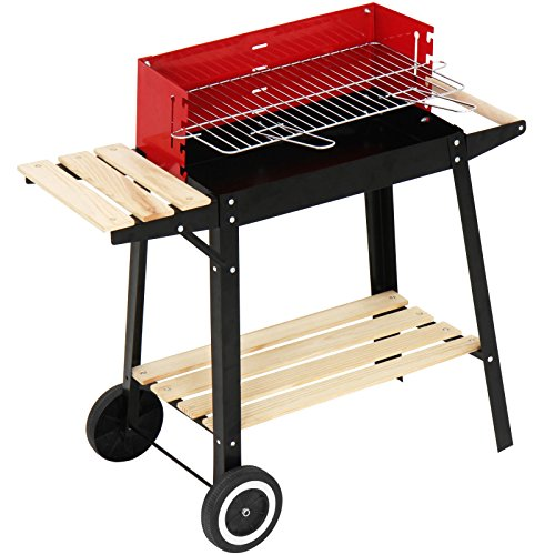 broil-master-Grill-Charcoal-Barbecue-with-Trolley-BlackRed-83-x-775-x-395-cm