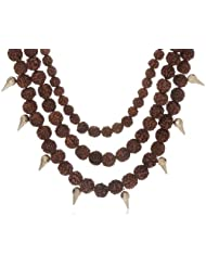 Karmic Kabira Fusion Collection Wood Multi-Strand Necklace For Women (Brown) (KK-0912-18)
