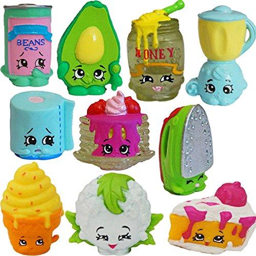 Shopkins Season 2 Set Of 10 Honeeey Pancake Avocado Leafy Blender Ice Cream Beans Sizzles Chloe
