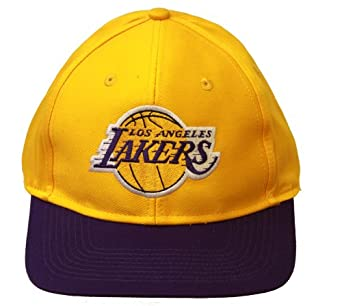 Los Angeles Lakers NBA Snapback Adjustable Hat, Yellow Purple + GT Wristband by Team NBA