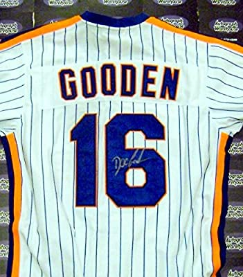 Dwight Gooden autographed Jersey (New York Mets Doc 1985 Cy Young Award) inscribed 85 CY Authentication Certificate
