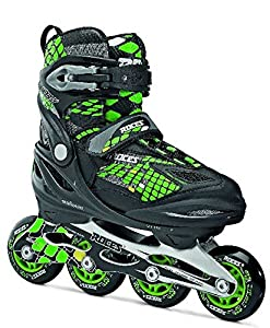 Roces Kid's Boys Moody Fitness Inline Skates Rollerblade 400777 (Black/Lime 4-7)