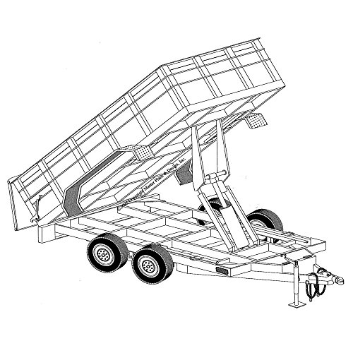 Hydraulic Dump Trailer Blueprints (12' x 6'4
