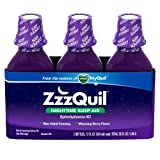 Vicks ZzzQuil Nighttime Sleep-Aid, Berry Flavor - 12 fl. oz - 3 pk.