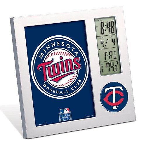 Wincraft MLB Minnesota Twins Desk Clock, Black