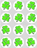 12 Irish Shamrock rice paper fairy cup cake 40mm toppers pre cut decoration St Patrick