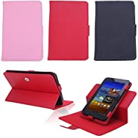 Wisedeal Univeral 360 roating degree slim fit Faux Leather Stand Case Cover For 7 inch Android Tablet PC (Pink) from Wisedeal