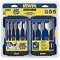 Irwin Industrial Tools 341008 Speebor Blue Groove Pro Spade Bit Set with Case, 8-Piece