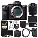 Sony Alpha A7S II 4K Wi-Fi Digital Camera Body with FE 28-70mm Lens + 64GB Card + Case + Flash + Battery & Charger + Tripod + Kit