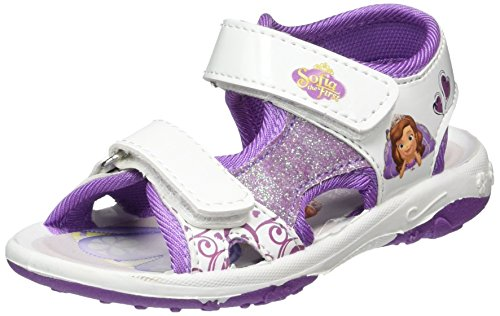 Sofia the FirstGirls Kids Classic Sandals and Mules - Sandali a Punta Aperta Bambina , Multicolore (Mehrfarbig (115 WHITE/LILAC/PURPLE)), 26