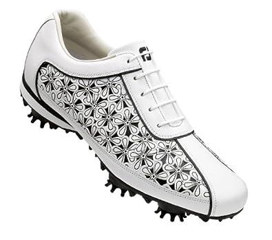 FootJoy LoPro Golf Shoes 97060 Women's White/Black Laser Cut Med 7.5