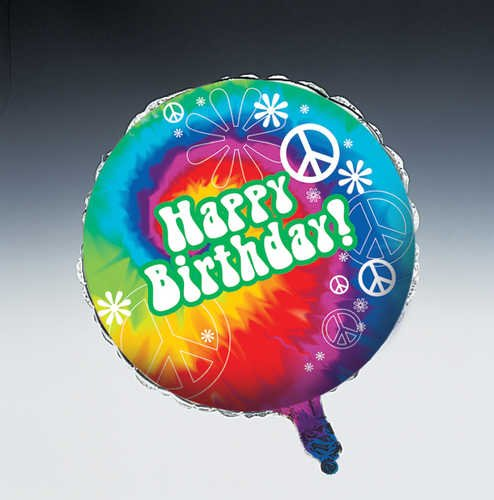 Tie Dye Fun Happy Birthday Foil Balloon