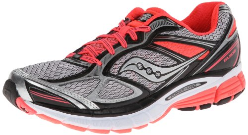 Saucony Women's Guide 7 Running Shoe,White/Black/Vizicoral,9 M US