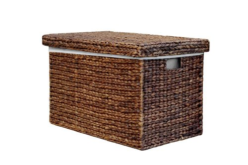 Marlow Large Brown Rattan Lidded Storage Trunk / Toy Basket / Hamper