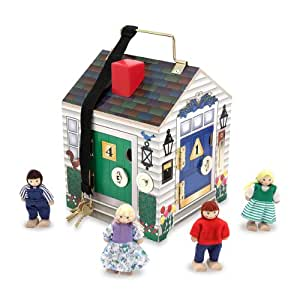 melissa doug deluxe wooden doorbell house melissa doug toys games. Black Bedroom Furniture Sets. Home Design Ideas