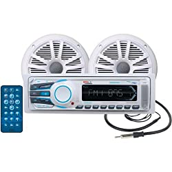 See BOSS AUDIO MCK1308WB.6 Marine Single-DIN Mechless Receiver with 2 Speakers & Bluetooth(R) Details