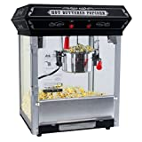 FunTime FT421CB Carnival Style 4-Ounce Hot Oil Popcorn Machine, Black