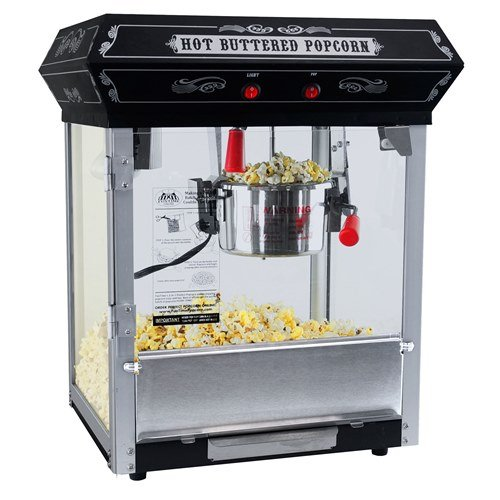 FunTime FT421CB Carnival Style 4-Ounce Hot Oil Popcorn Machine, Black  (Popcorn Room Decor compare prices)