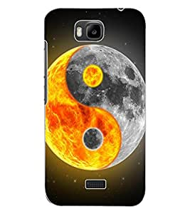 ColourCraft Printed Design Back Case Cover for HUAWEI HONOR BEE