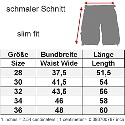 Smith and Jones Herren Cargo Shorts Fin schwarz camouflage - schmaler Schnitt