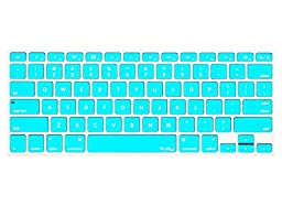 Kuzy - Teal / Turquoise HOT Blue Keyboard Silicone Cover Skin for Macbook / Macbook Pro 13\