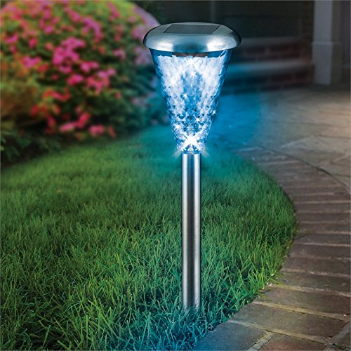 PROMOTION 8Pack Glass Lens Stainless Steel Solar Lights Outdoor Sogrand Solar Pathway Lights Solar Landscape Lighting Solar Path Lights Solar Garden Lights