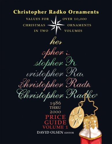 vintage christmas ornaments  retired christopher radko